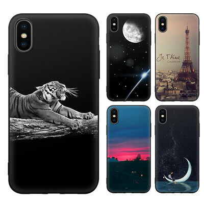 Soft TPU Case DIY Painted Protective Covers For Apple Iphone 6 7 X XR Max Phone