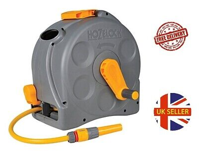 Hozelock Compact Enclosed Hose Reel 2-in-1 with 25 m
