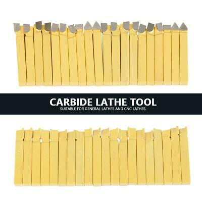 "20Pcs 3/8"" Lathe Tools Carbide Tipped Welding Milling Cutting Turning Tools 10mm"