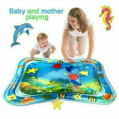 Inflatable Water Mat For Baby Infant Toddlers Mattress Splash Playmat Tummy New
