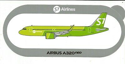 A320neo S7 AIRLINES RUSSIA 2ND modèle STICKER AIRBUS
