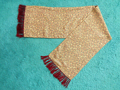 "Tootal Gentleman's Yellow/Red Paisley Double Sided Scarf With Fringe 47"" x 11"""