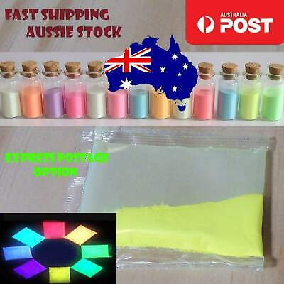 Paint Pigment Dye Fluorescent YELLOW Luminous Glow in the Dark Powder