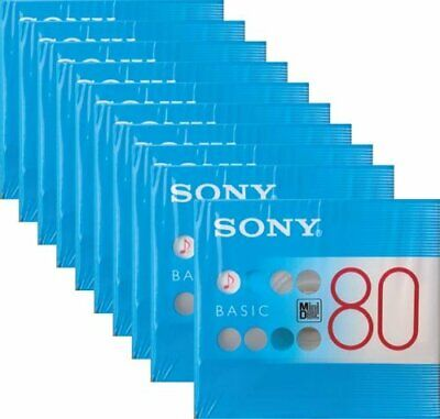 SONY MD80 Blank Mini Disc 80 Minutes Recordable 10 Packs JAPAN OFFICIAL IMPORT