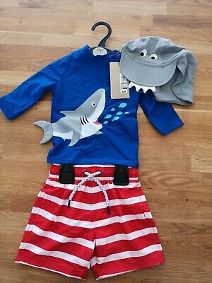 BNWT Marks And Spencer Boys Sunsafe Swimset Age 12-18mths