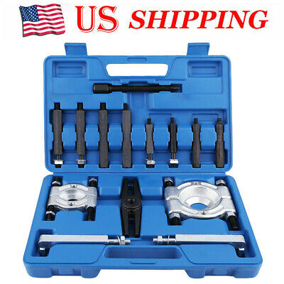 Bearing Puller Separator Set 2''& 3''Splitters Long Jaw Gear Pulley Removal Bar