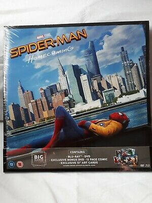 Spider-Man Homecoming Big Sleeve Edition With Blu-ray DVD & 12 Page Comic