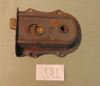 Antique  Brass And Steel Rim Door Lock  131
