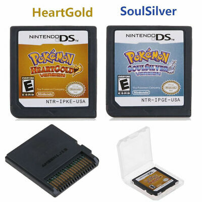 Pokemon HeartGold+SoulSilver Version Game Card Fits Nintendo 3DS NDSI NDS Lite