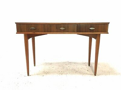 Vintage Retro Mid Century 1960s Teak & Rosewood Danish Era Writing Desk Table