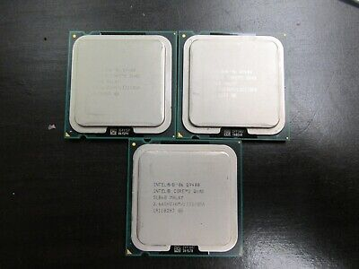 3 intel core 2 quads Q9400 processors SLB6B  tested --working..pre owned.