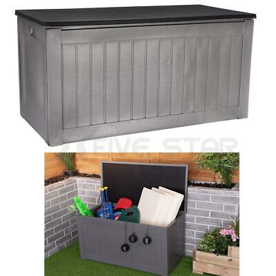 Storage Box Outdoor Garden Plastic Utility Chest Cushion Shed Box 190L Kids Home