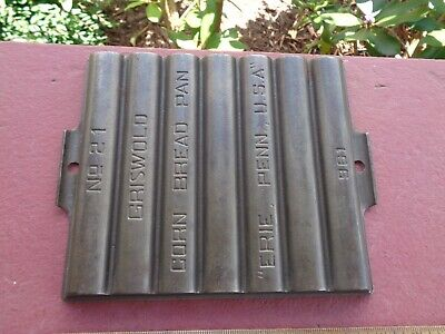 EARLY Griswold Cast Iron No 21 Corn Bread Pan Gem Muffin Pan