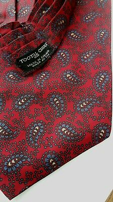 Vintage 60S Men's Tootal Red Paisley Cravat/Scarf Goodwood/Mod/Dandy/Hipster