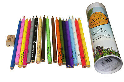 The Gruffalo Colouring Chunky Pencil Set Sharpener Kids School Supplies Art SALE