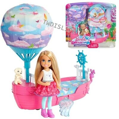 Barbie Dreamtopia Magical Dreamboat and Chelsea Doll & Puppy Playset Mattel New