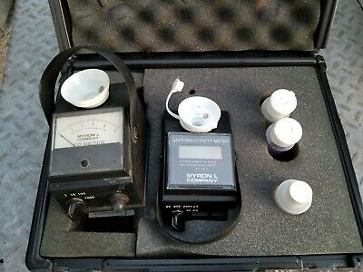 Myron L EP=10 Conductivity Meter and DCH4 PH microsiemen unit with manual case