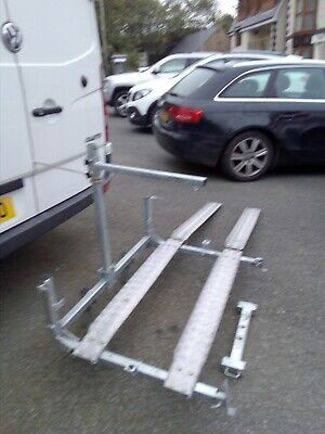 COBRA FOLDING mobility scooter luggage bike rack galvanised & Alloy incl   ramps