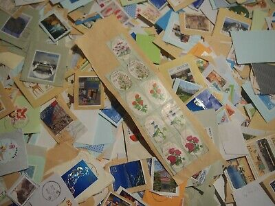 All Briefmarken Commemorative Japan Used Stamps On Paper 1000 Pcs Kiloware A9