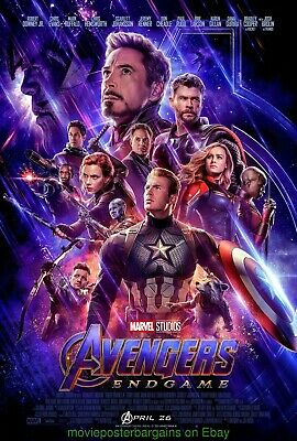 AVENGERS : ENDGAME MOVIE POSTER Original N.Mint  DS 27x40  IRON MAN THOR  ETC..
