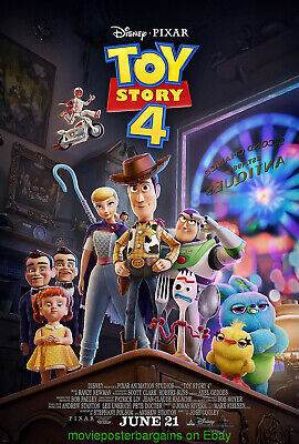 TOY STORY 4 MOVIE POSTER Mint Original DS 27x40 Final Style  DISNEY ANIMATION