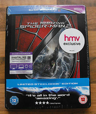 The Amazing Spider-Man 2 Hmv Exclusive Steelbook Blu-Ray & Digital New & Sealed