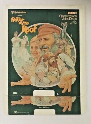 """Fiddler on the Roof"" Set of 2 CED Videodiscs - EUC"