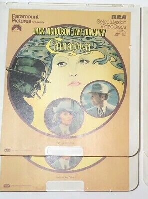 """Chinatown"" Set of 2 CED Videodiscs - EUC"