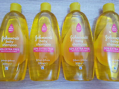 4x Johnsons Baby Shampoo, No More Tears, 300 ml Bottles of Shampoo for Children