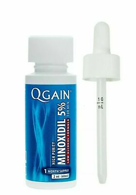 QGAIN- MINOXIDIL 5% low alcohol formula- Hair regrowth treatment for men 60ml