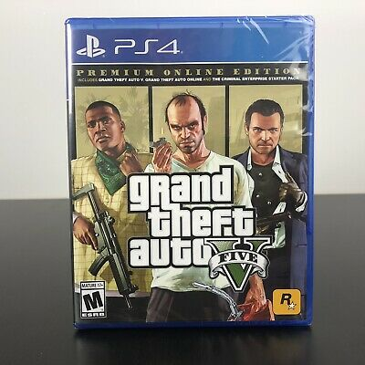 Grand Theft Auto V: Premium Online Edition - Sony PlayStation 4 - PS4 - New