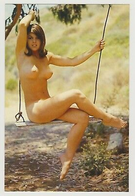 Postcard Pinup Risque Nude Stunning Girl Extremely Rare Photo Post Card 9627