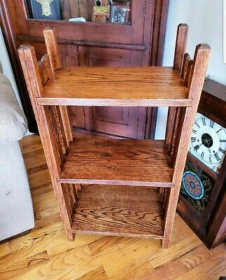 Vintage Arts/Craft/Mission era Three Tier Oak Shelf
