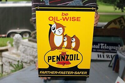 """6/"""" PENNZOIL OWLS LUBSTER OIL CAN GASOLINE GAS DECAL"""