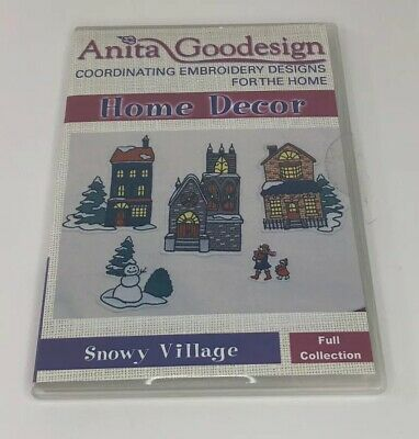 Anita Goodesign Embroidery CD Home Decor Snowy Village Full Collection