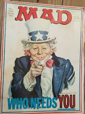MAD MAGAZINE  No. 126 April '69  MAD is leaving news stands as of August 2019