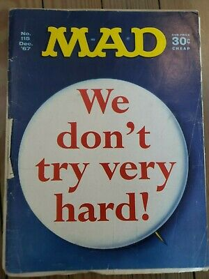 MAD MAGAZINE No. 115 Dec '67--MAD is leaving news stands