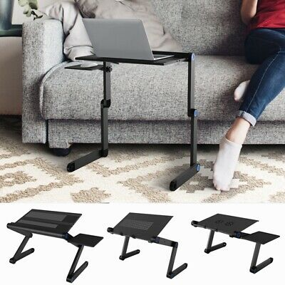 Adjustable Folding Laptop Table Lap Desk Bed Computer Tray Stand Portable Holder