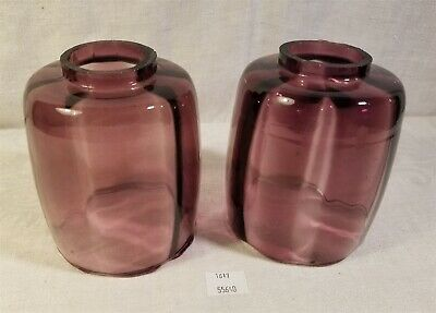 ThriftCHI ~ Two Amethyst Glass Lamp Shades
