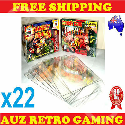 22x Thick GAME BOX PROTECTORS Cases 4 Super Nintendo SNES & Nintendo N64 Boxed