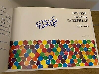 The Very Hungry Caterpillar Signed by Eric Carle Classic Anniversary Edition