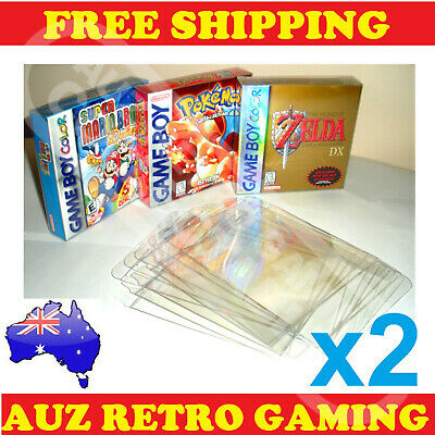 2x Thick GAME BOX PROTECTORS Cases Nintendo GameBoy / Color / Advance BOXED