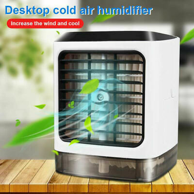 Portable Air Conditioner Cooler Humidifier USB Personal Cooling Fan Home Desktop