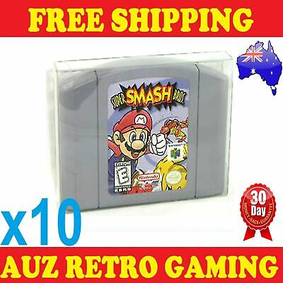 10x Thick GAME CART CARTRIDGE PROTECTORS Cases For N64 Nintendo 64 Games