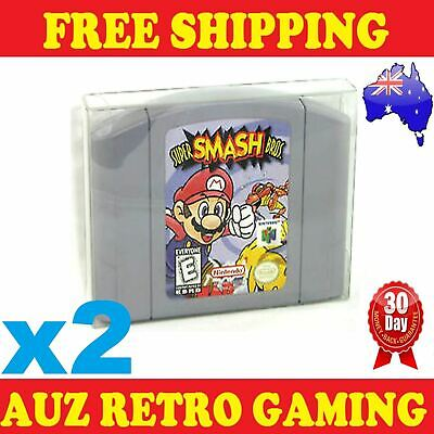 2x Thick GAME CART CARTRIDGE PROTECTORS Cases For N64 Nintendo 64 Games