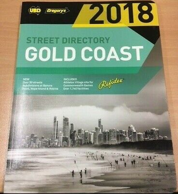 NEW UBD / Gregory's Gold Coast Street Directory 2018