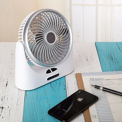 1XUSB Ventilateur Mini Bureau Table Portable Silencieux Ordinateur PC Inclinable