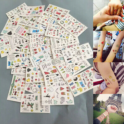 10 Sheets Cute Kids Temporary Tattoo Inspired Body Makeup Sticker Tattoos.