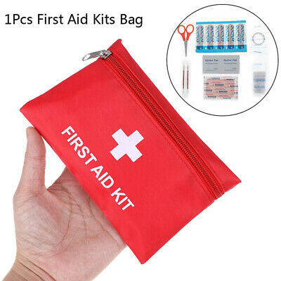 Portable Emergency Survival First Aid Kit Pack Travel Medical Sports Bag Case.