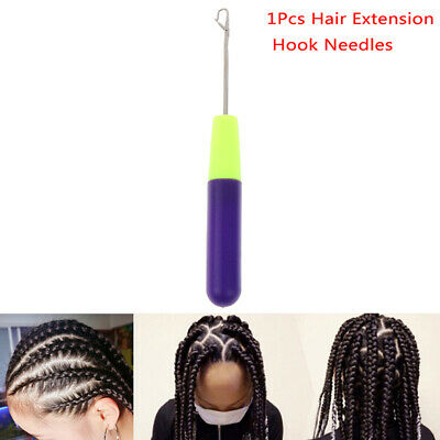 1Pcs Weaving Latch Hook Dreadlock Crochet Sew Wig Hook Needle Micro Braids Tool.